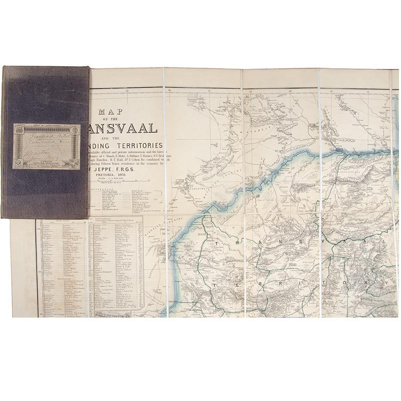 MAP, Transvaal. Map of the Transvaal and the surrounding territories.