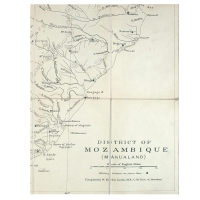 MAP. District of Mozambique (Makualand).